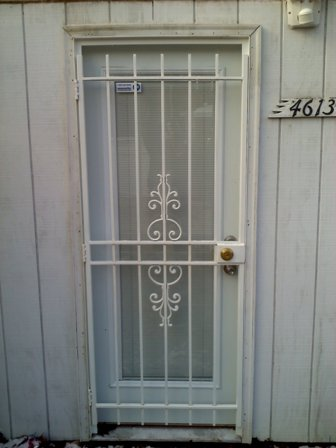 Gate Style Single Patio Door & Iron Security Doors and Patio Gates/doors custom made in Maryland ...