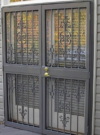 Beautiful Simplicity II French Security Storm Door